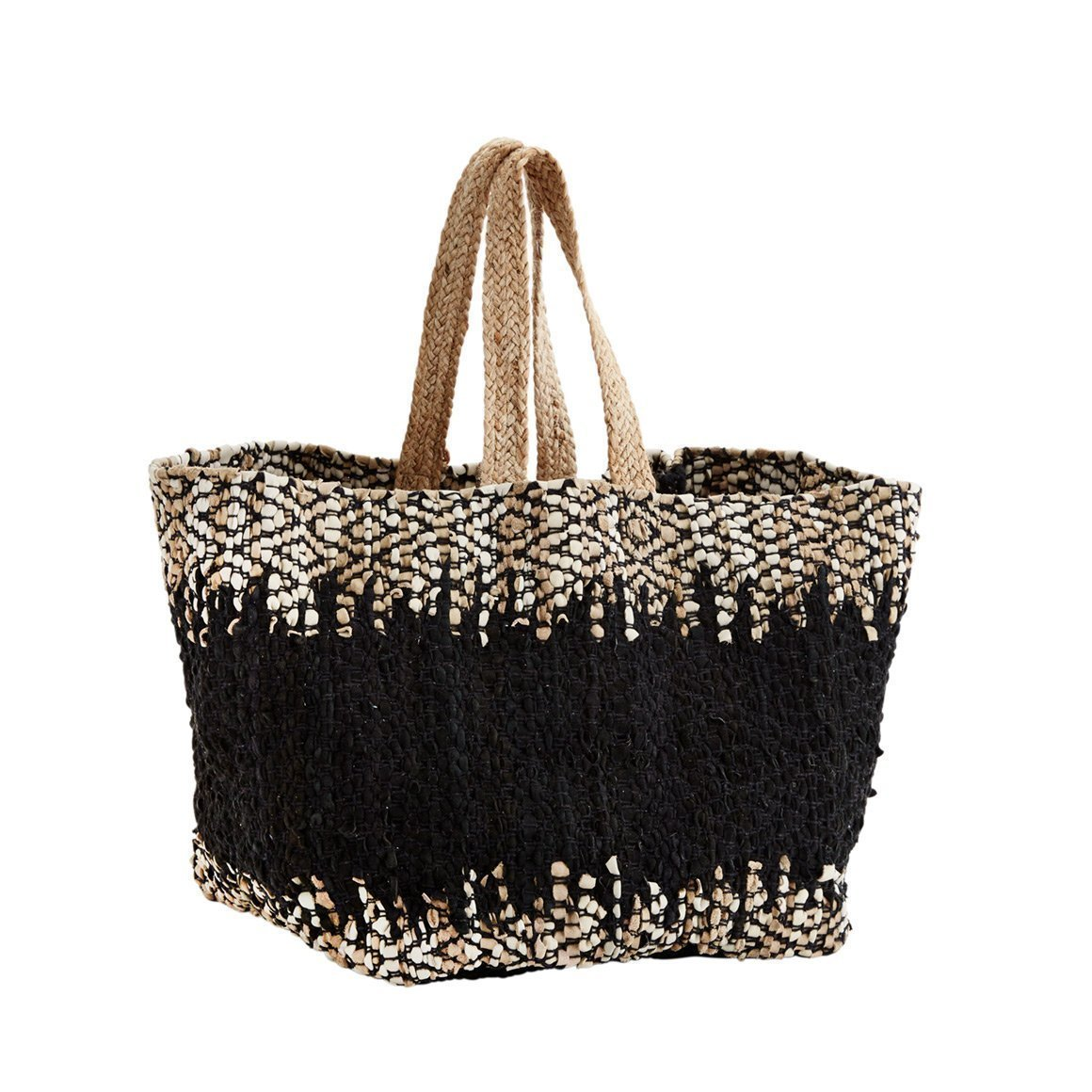 leather jute bag