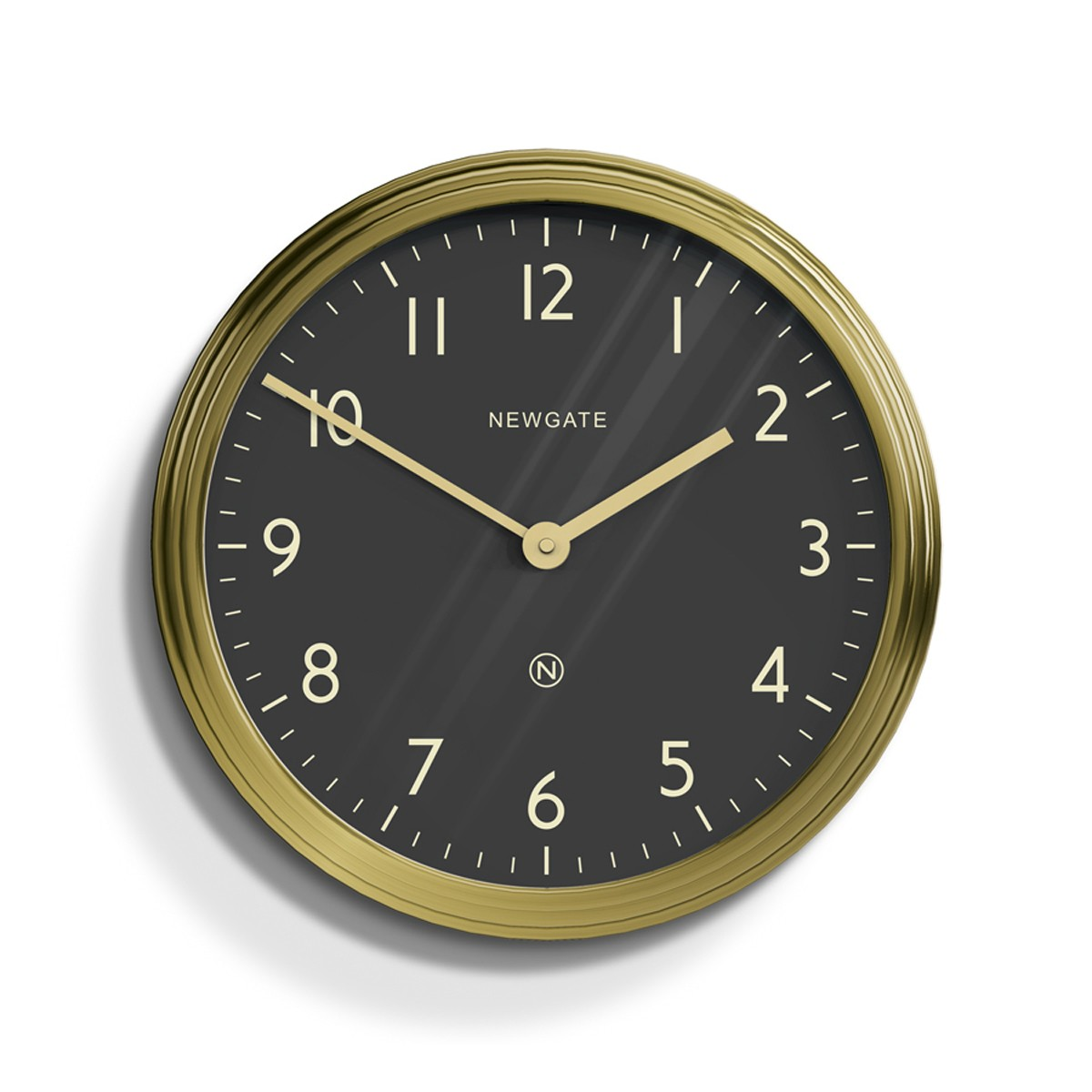 Radial Brass Wall Clock