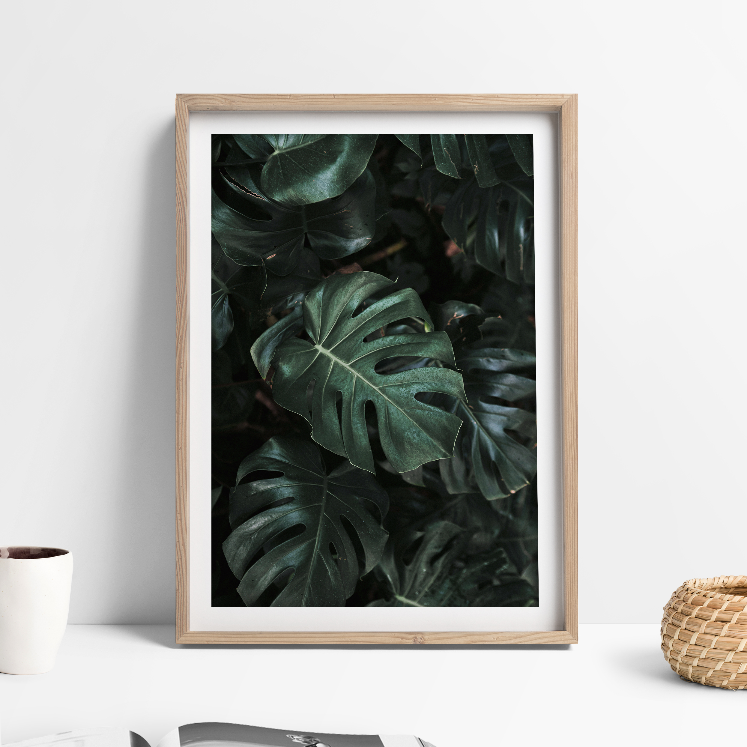 Monstera Leaf Botanical Wall Art Print