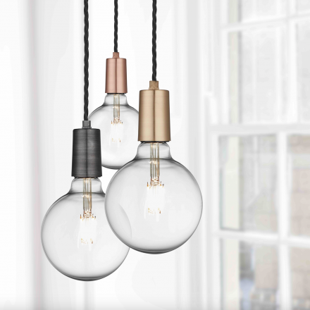 Edison brass pendant light