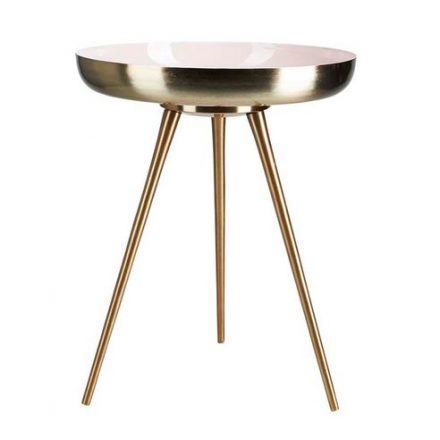 pink and gold side table