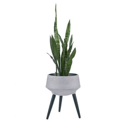 grey planter on legs