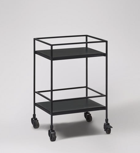 black industrial swoon editions drinks trolley