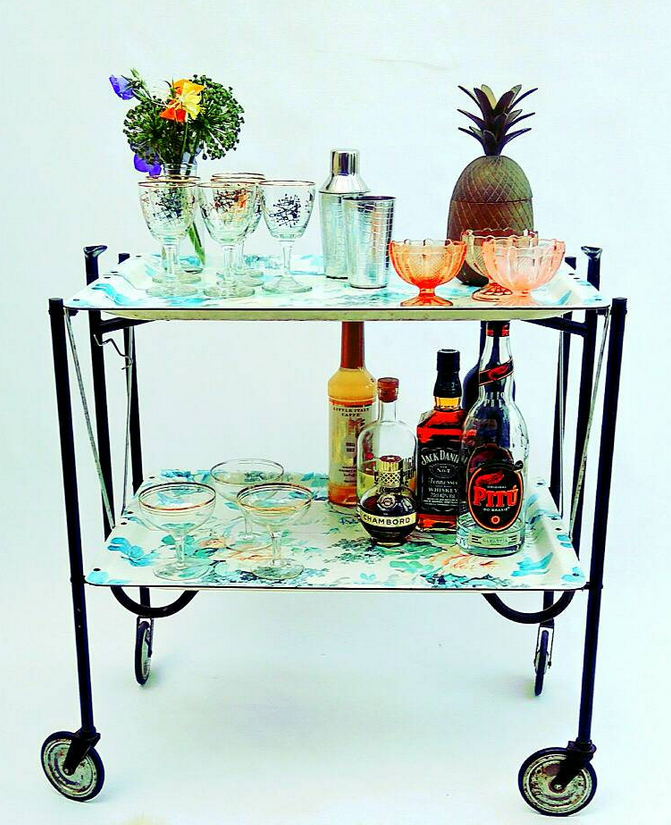 60s floral trolley from Interior