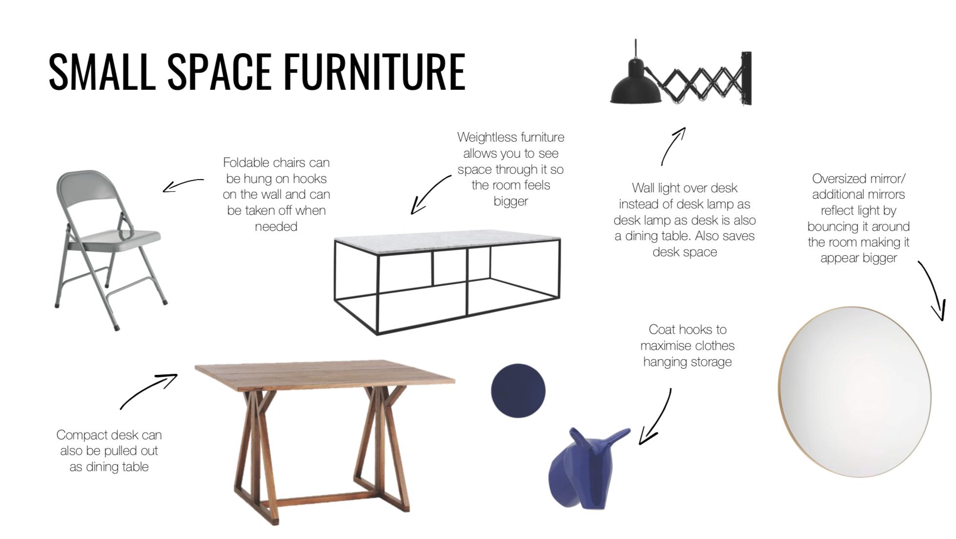 small furniture mood board