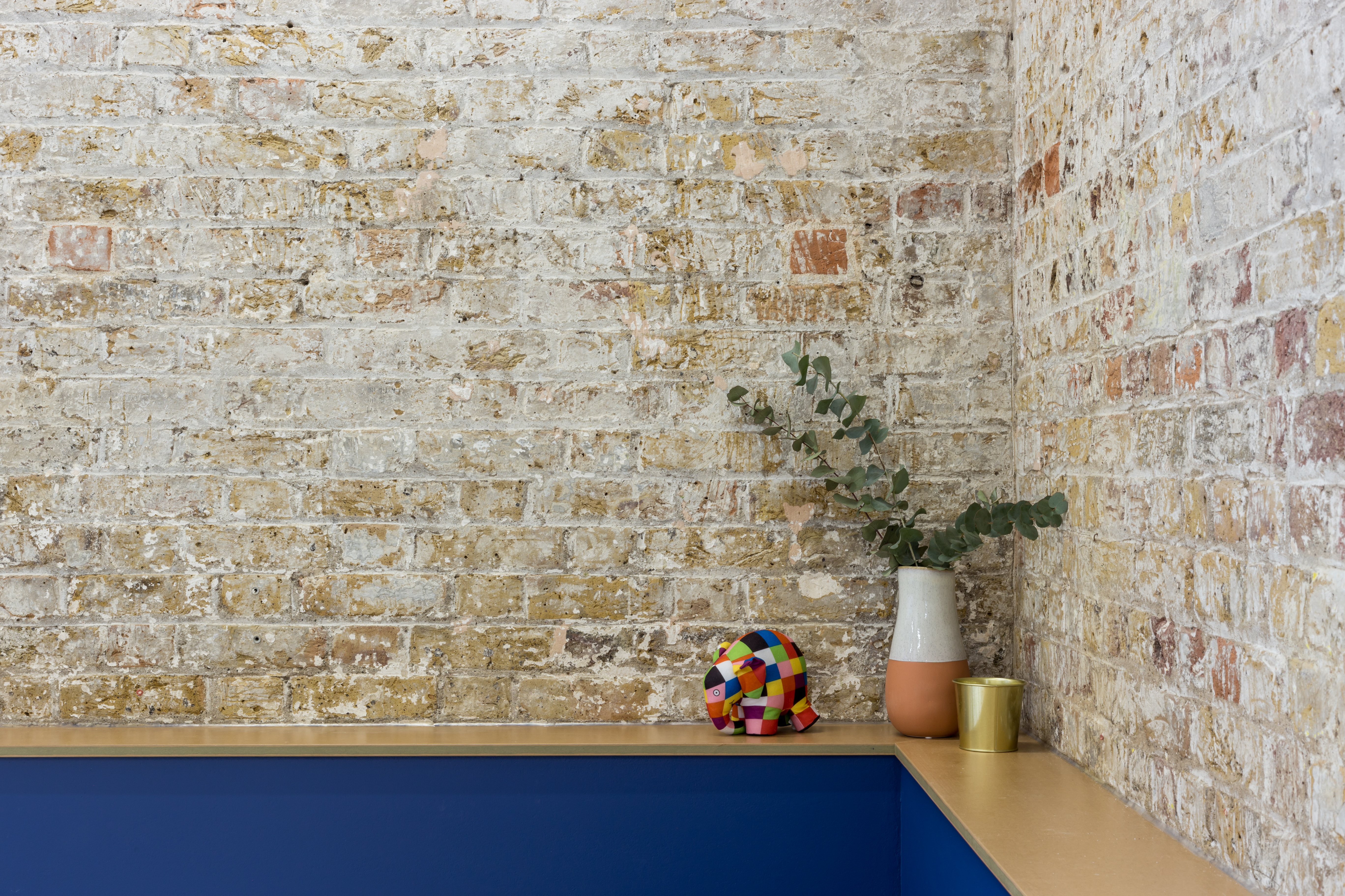 exposed brick wall interior
