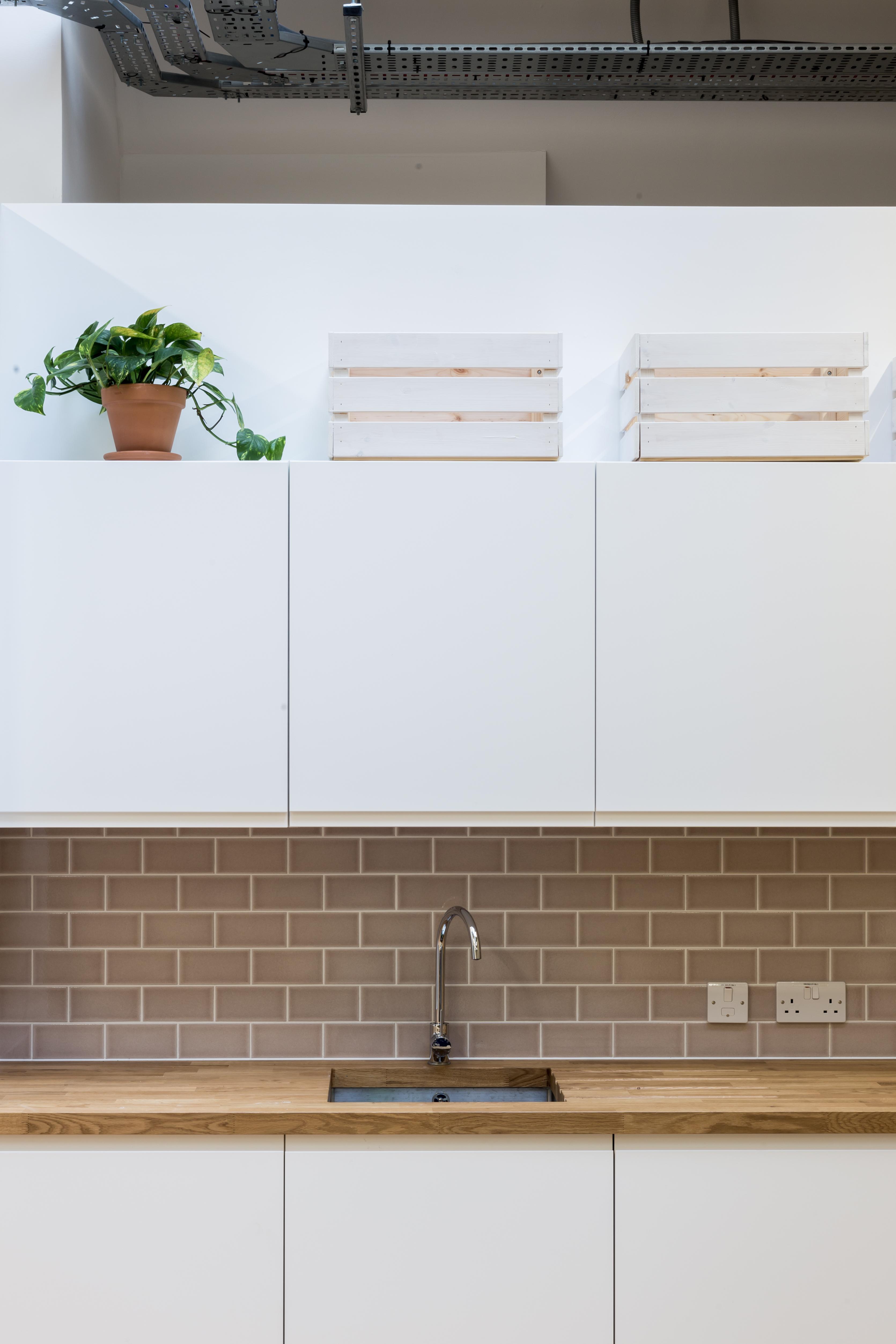 contemporary white kitchen decor