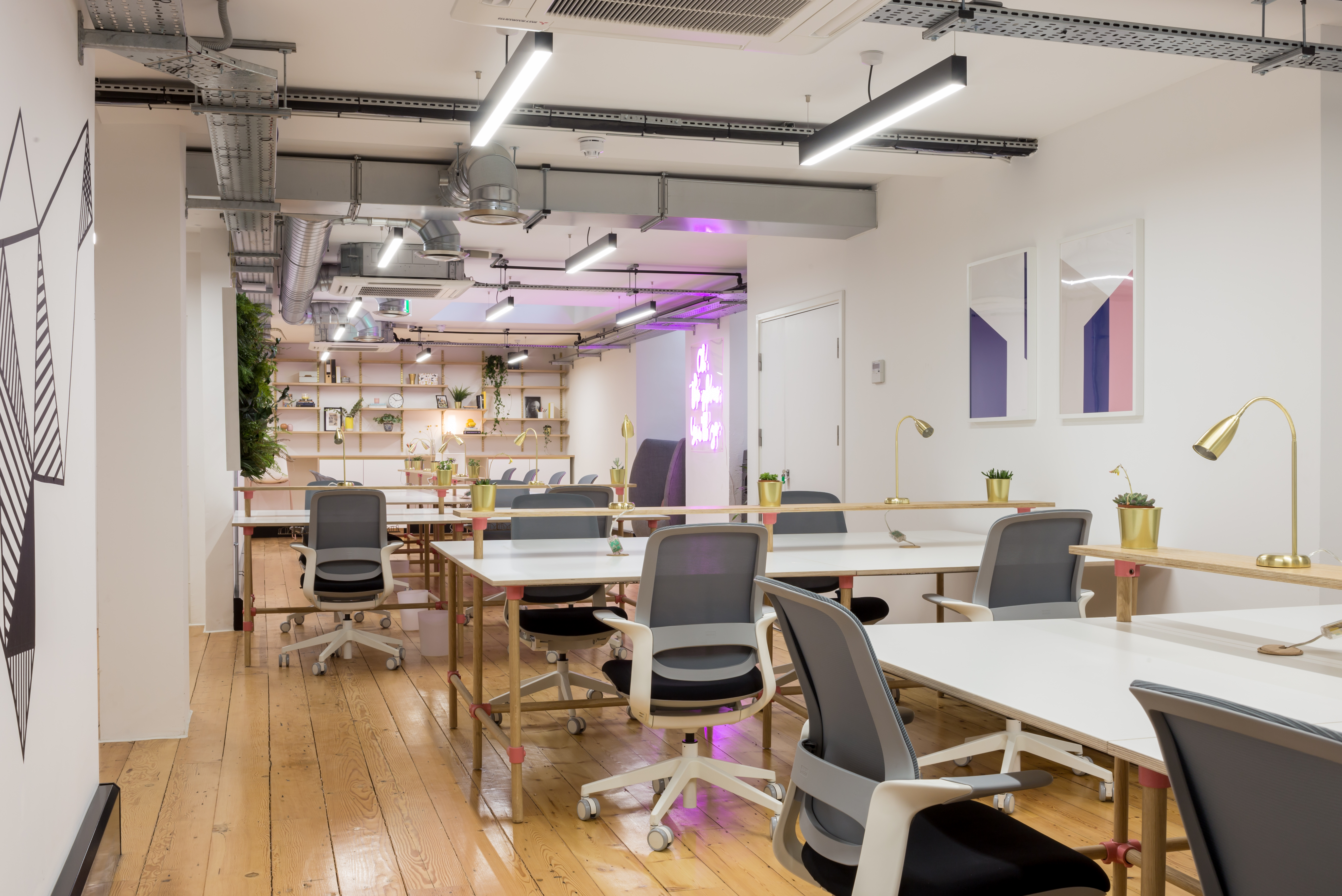 coworking space with modern interior