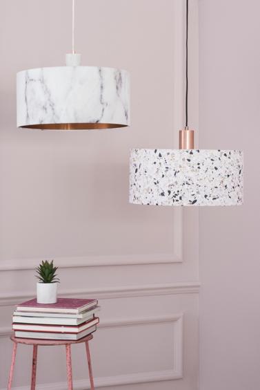 Terrazzo print pendant light