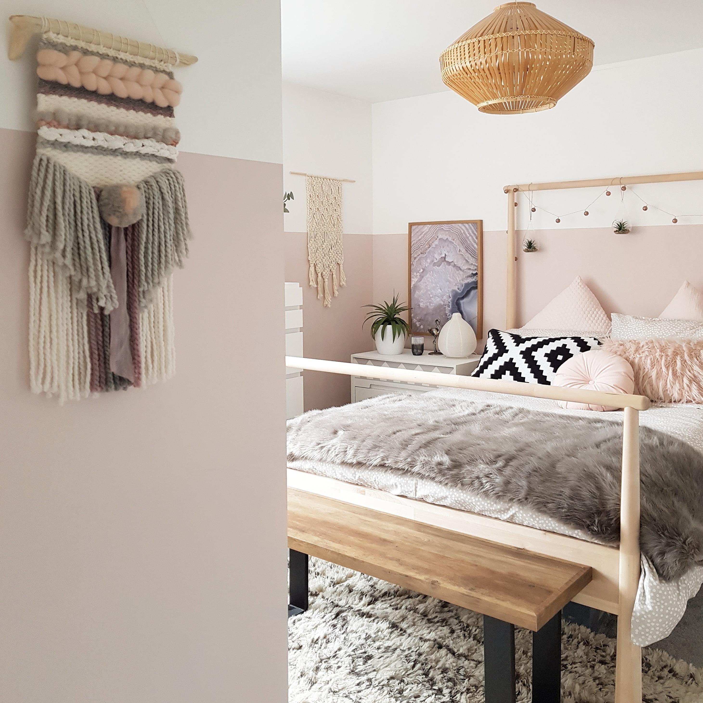 pink scandi girls bedroom