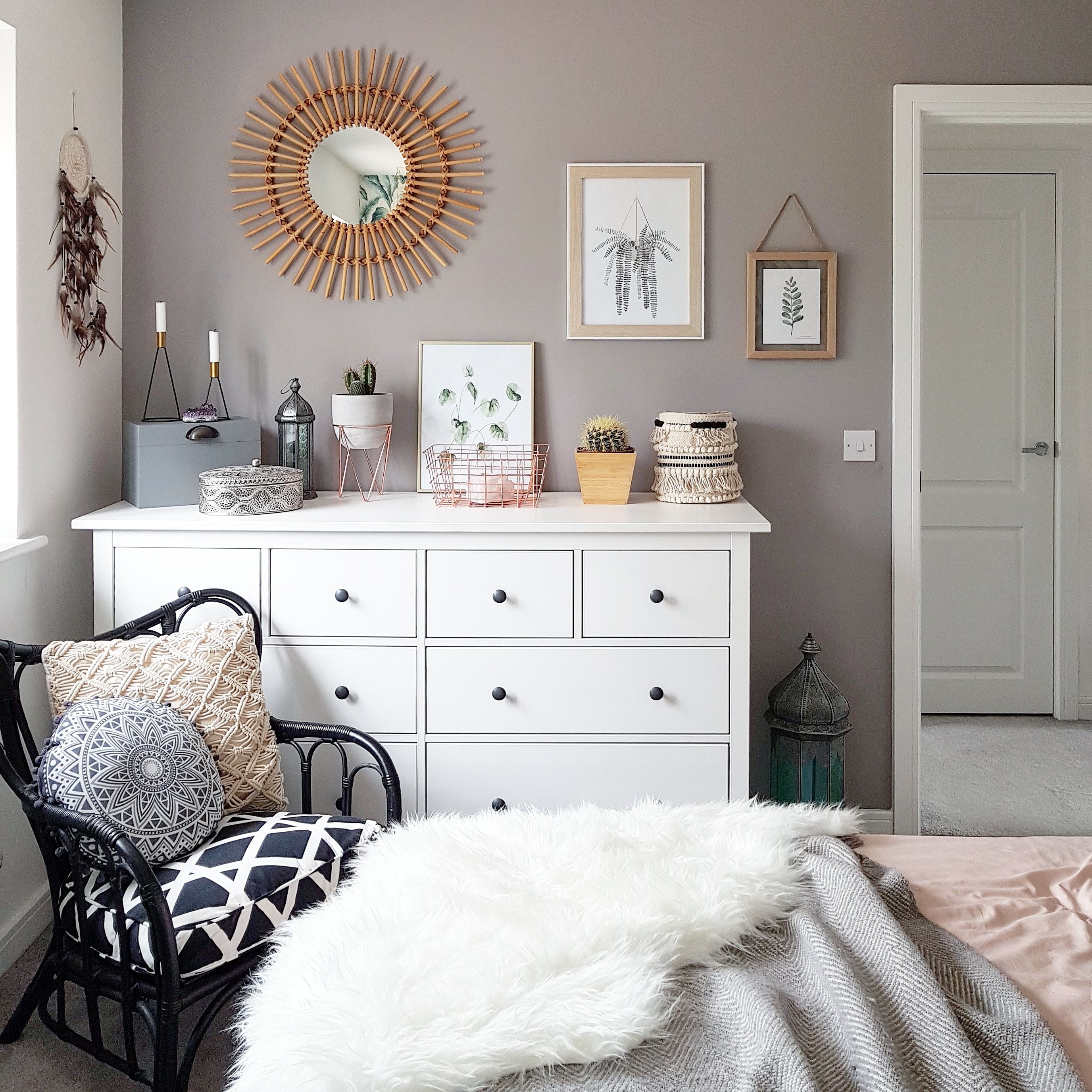 taupe painted walls