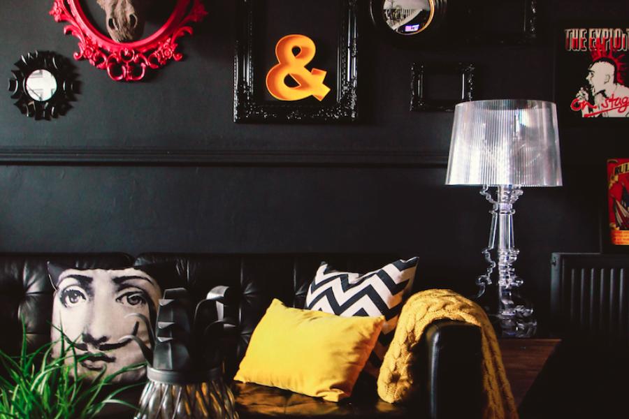 eclectic dark interior design