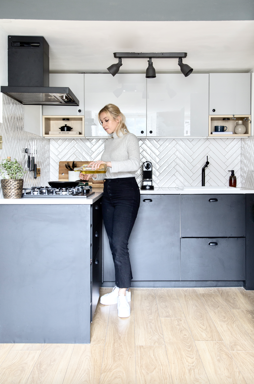 Athina from topology in her ikea kitchen