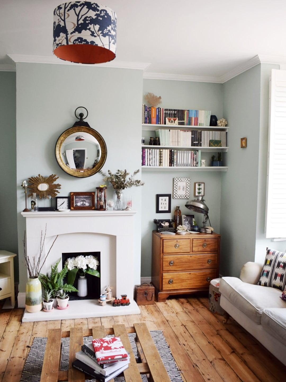 eclectic-modern-bohemian-vintage-interior-decor-farrow-ball-teresas-green-3-2