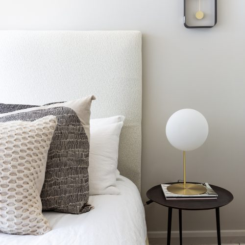 contemporary luxe bedroom