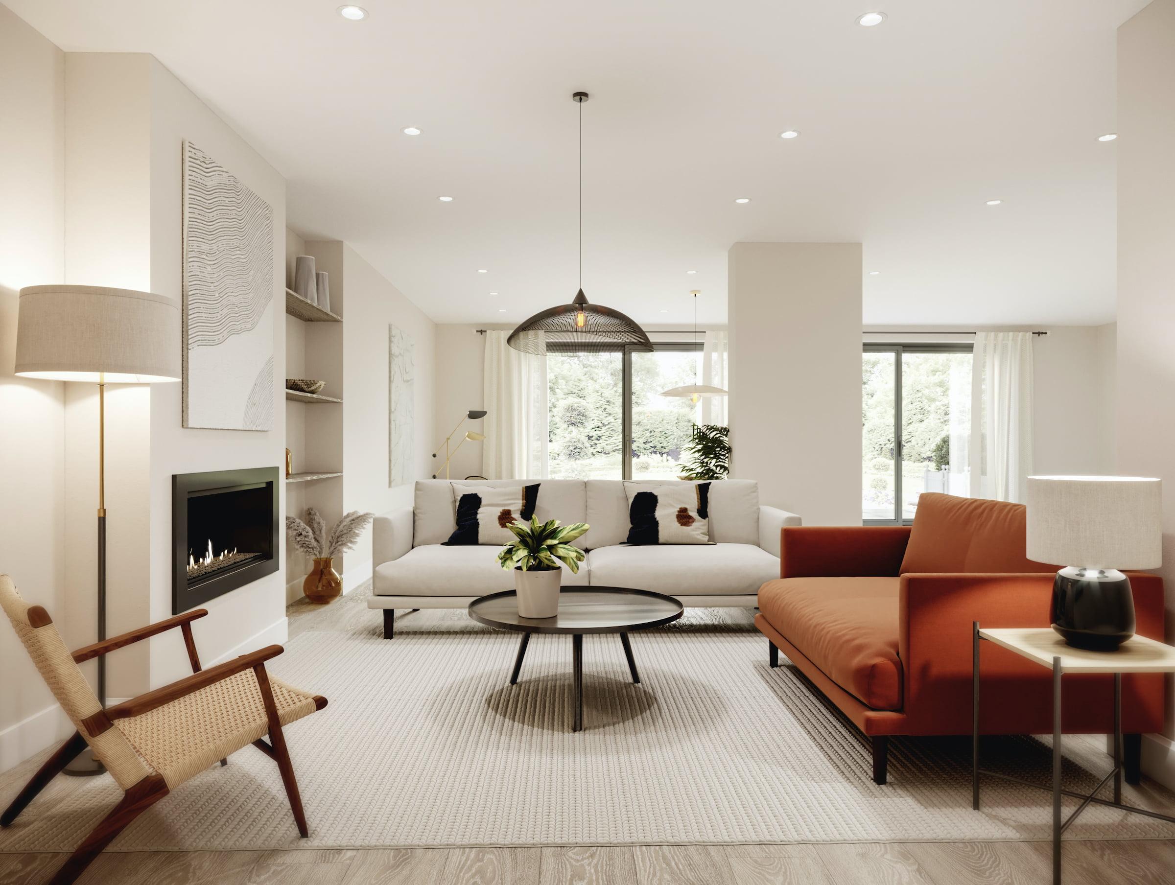 Minimalistic living room design