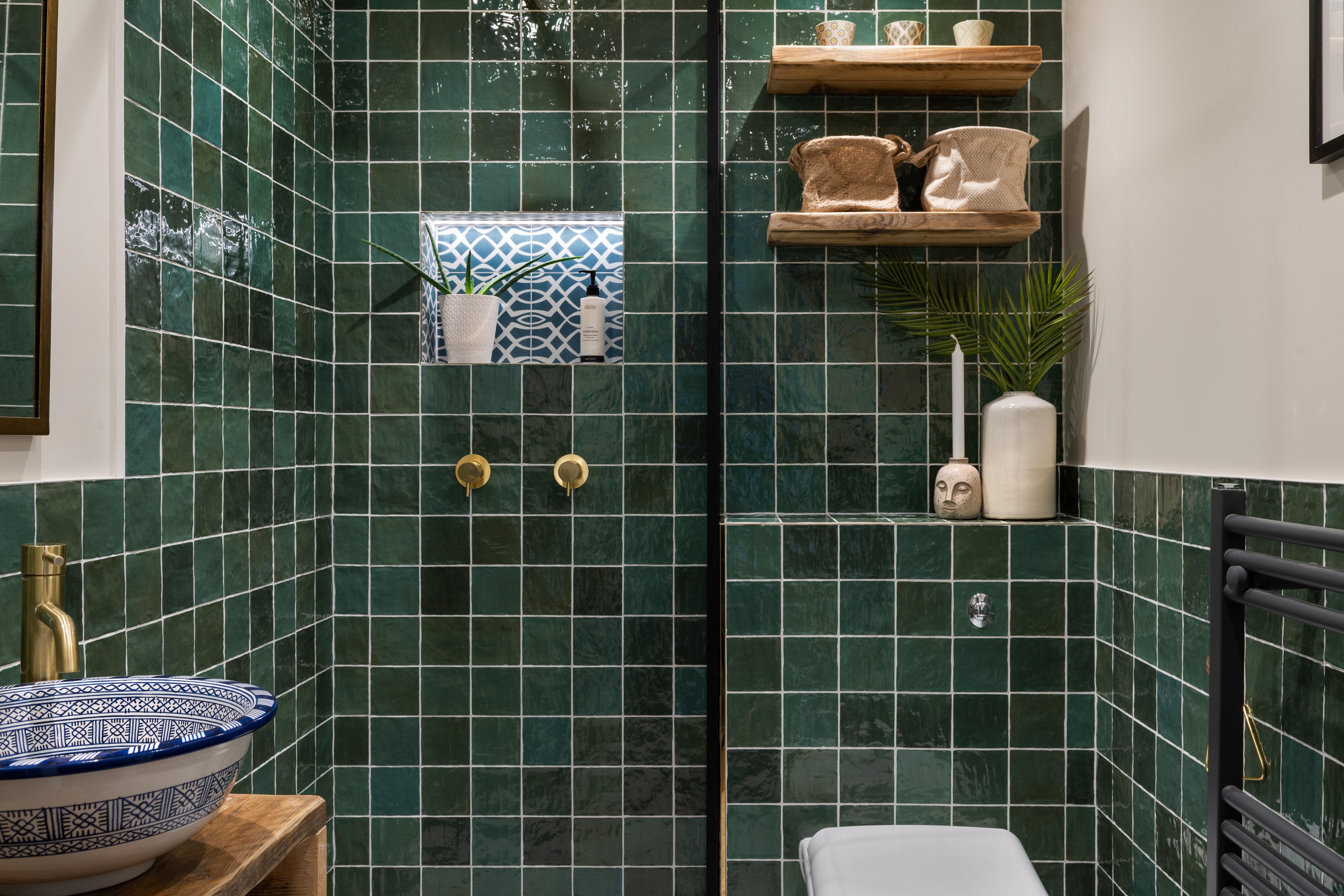 Green bathroom Hampstead-2