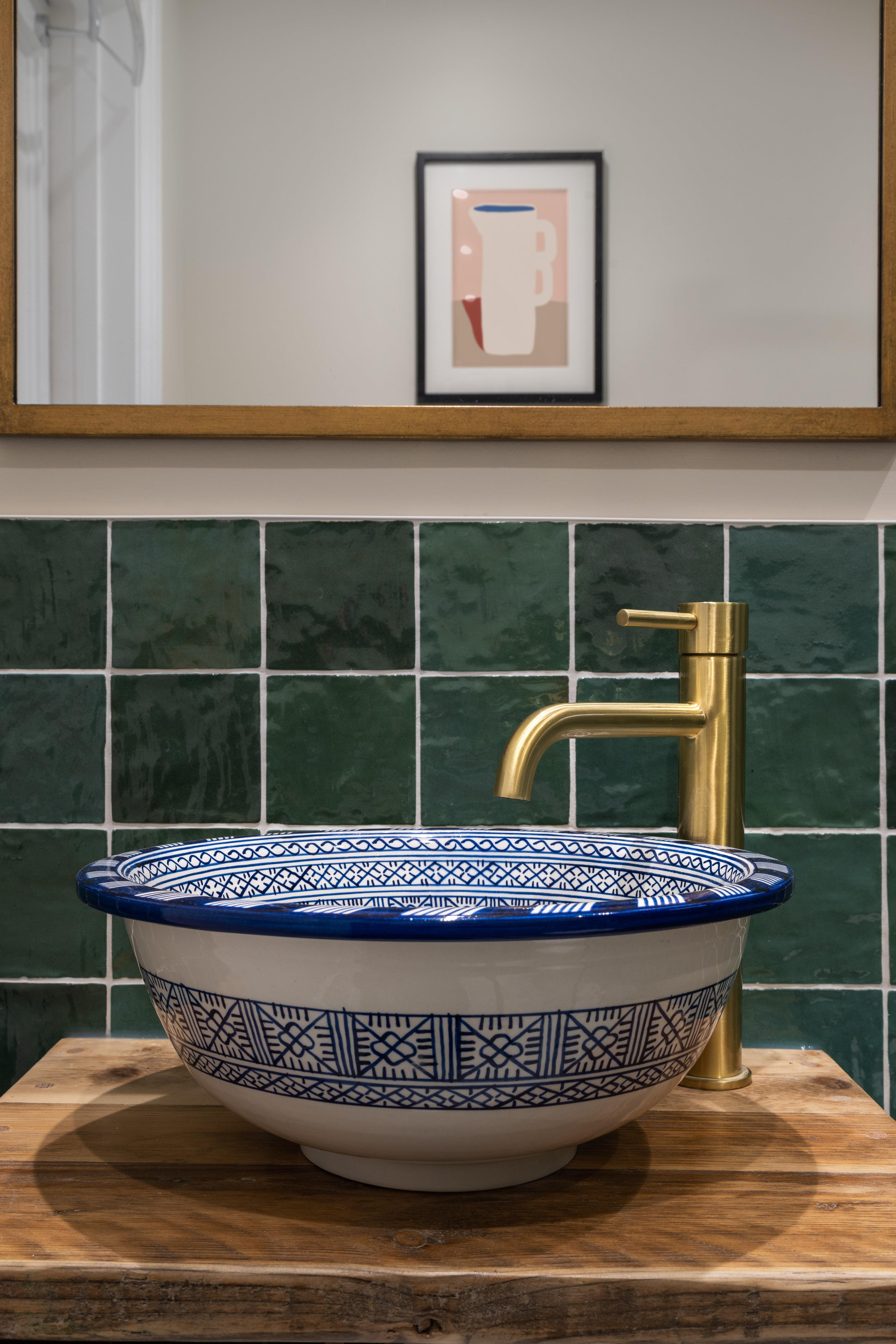 Green bathroom Hampstead-4