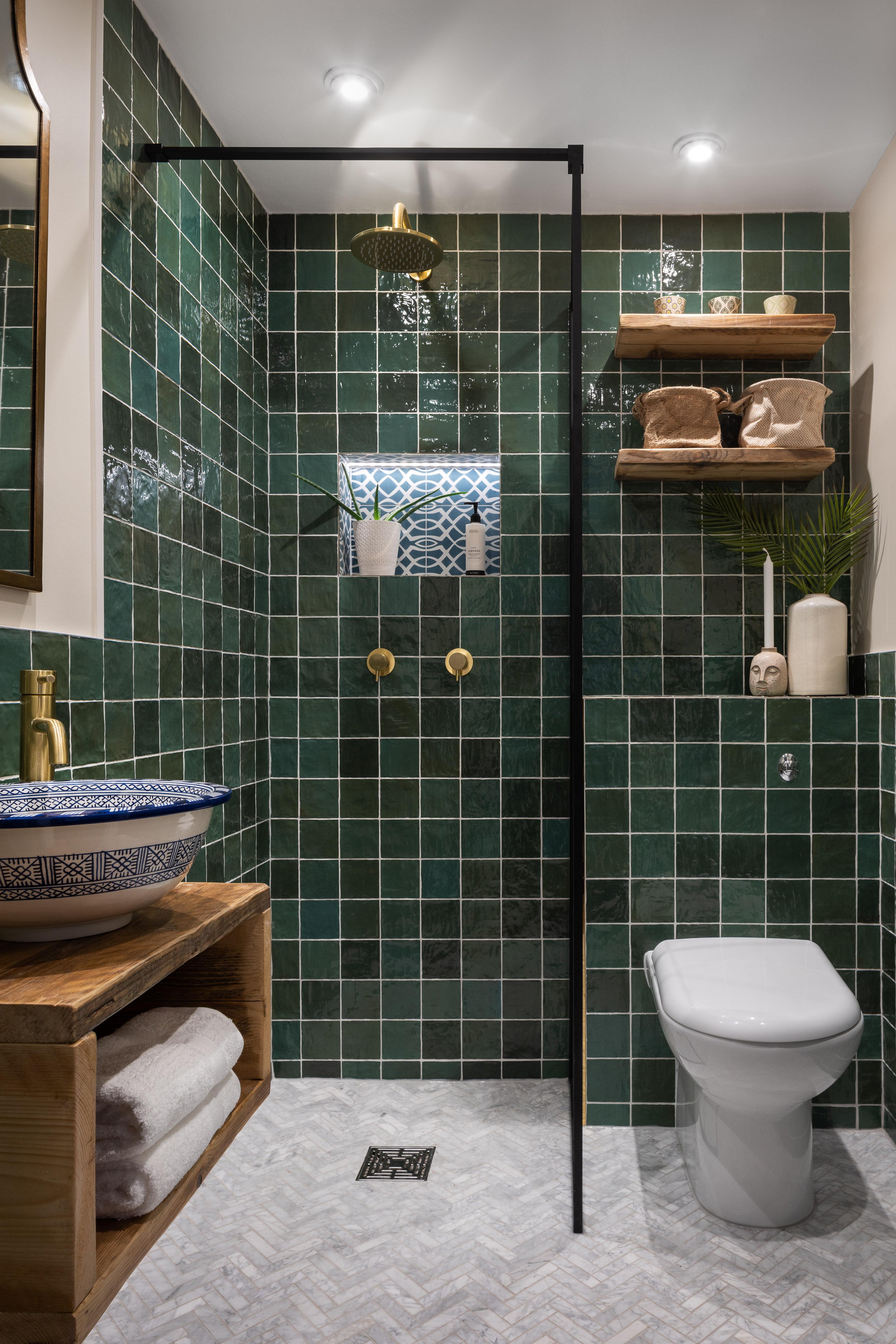 Green bathroom Hampstead-8