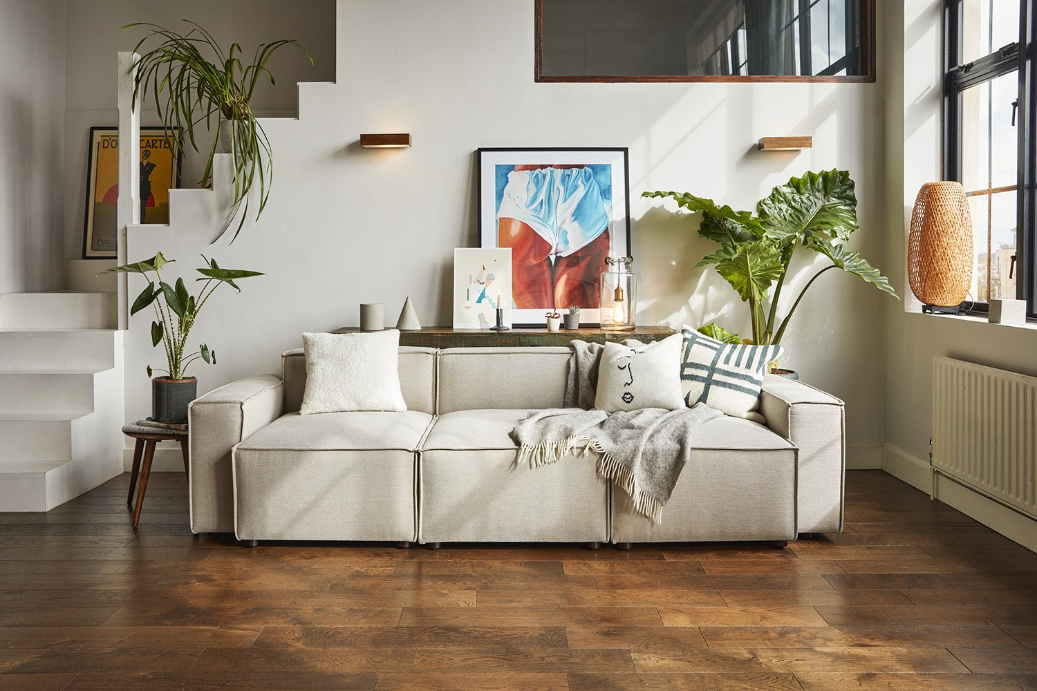 cream sofa from swyft